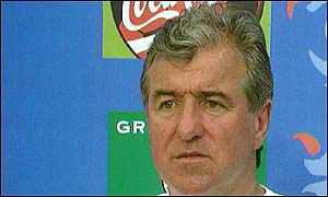 image: [ A red card for Terry Venables: banned from holding company directorships for seven years ]
