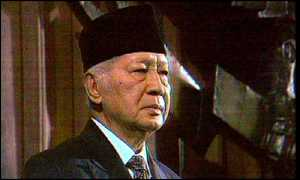 image: [ President Suharto: committed to IMF reforms ]