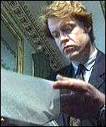 [ image: Earl Spencer reads the PCC ruling in 1995]