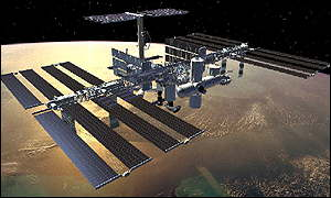 image: [ The space station of the future (an artist's impression) ]