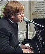 [ image: Elton John sang a touching tribute at Diana's funeral]