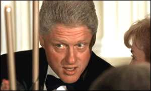 image: [ Clinton: accused of persuading White House aide to lie under oath ]