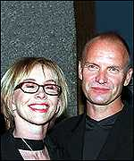 [ image: Sting with wife Trudy Styler: