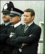 [ image: Danny Wilson looks on helplessly]