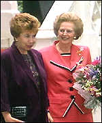 [ image: Baroness Thatcher: Described Mrs Gorbachev as
