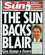 [ image: The Sun changes tack at election]