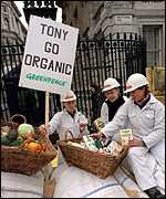 [ image: Anti-GM protests have got through to Lib Dems, if not Downing Street]