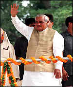 [ image: Mr Vajpayee is confident of victory]