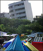 [ image: Many Taiwanese have been rehoused in tents]