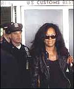 [ image: Diana Ross arriving back in New York after her arrest]