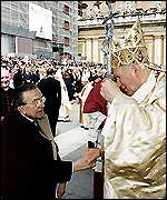 [ image: Mr Andreotti is close to the Vatican]