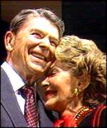 [ image: The Reagans were perceived as a  team in the White House]