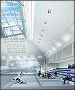 [ image: A computer simulation of the Royal Ballet's new studio]