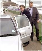 [ image: John Prescott: Accused of hypocrisy for his 250-yard car journey]