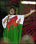 [ image: Shirley Bassey raised the roof at the Millennium Stadium]