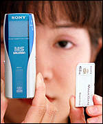 [ image: The latest Sony micro-Walkman was launched last month]