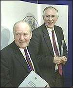 [ image: Donald Dewar and Dr John Reid dismiss 'turf war' claims]