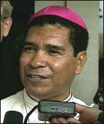 [ image: Bishop Belo: one month in exile]