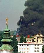 [ image: Serbian oil refineries were damaged in Nato bombing]