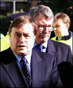 [ image: John Prescott and Lord Macdonald visited the crash site]