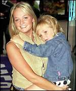 [ image: Baby Spice Emma Bunton and friend after the show]