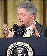[ image: President Clinton's impassioned plea to Republicans fell on deaf ears]