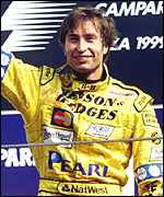 [ image: Heinz-Harald Frentzen has put himself into the championship reckoning]
