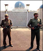 [ image: Security outside the Pakistan mission in Delhi]