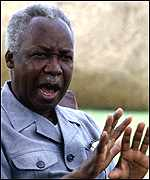 [ image: Julius Nyerere's death has hit the nation hard]