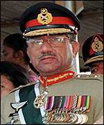 [ image: General Musharraf: Still no statement on country's future]