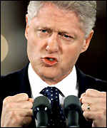 [ image: President Clinton: The Senate's vote held