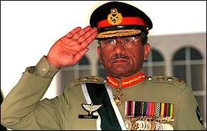 Musharraf salutes - BBC picture