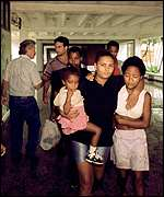 [ image: Residents in Pinar del Rio sought shelter in a school]