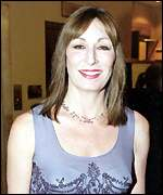 [ image: Hollywood star Anjelica Huston arrives at the awards]