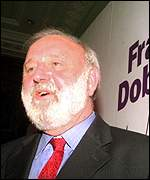 [ image: Frank Dobson at his campaign launch]