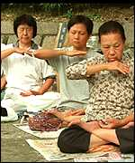 [ image: Members do regular breathing exercises]