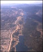 [ image: The San Andreas Fault runs along the length of San Andreas Lake]