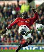 [ image: Dwight Yorke proved a handful for the Watford defence]