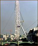 [ image: The wheel dominates London's skyline]