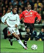 [ image: Dwight Yorke: Unable to punish the French side]