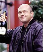 [ image: Ross Kemp on his last day as Grant Mitchell]
