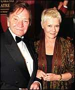 [ image: Opening night: Dame Judi Dench and husband Michael Williams arrive]