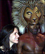 [ image: Director Julie Taymor with The Lion King, Roger Wright]