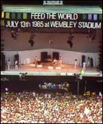 [ image: Charity pop concert Live Aid was held at the stadium]