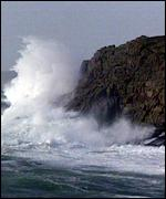[ image: South coast bore the brunt of the gales]