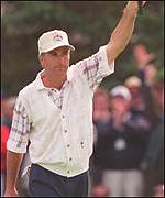[ image: Strange was gutted when he cost the USA Ryder Cup defeat in 1995]