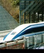 [ image: Japan's maglev train hits 343 mph (552kph) west of Tokyo]