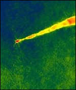 [ image: Radio observations show how narrow the jet is]