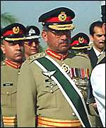 [ image: General Musharraf: Not welcomed by his neighbours]
