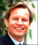 [ image: Michael York's character has plans for world domination]